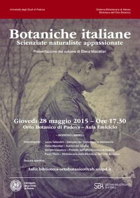 locandina botaniche italiane