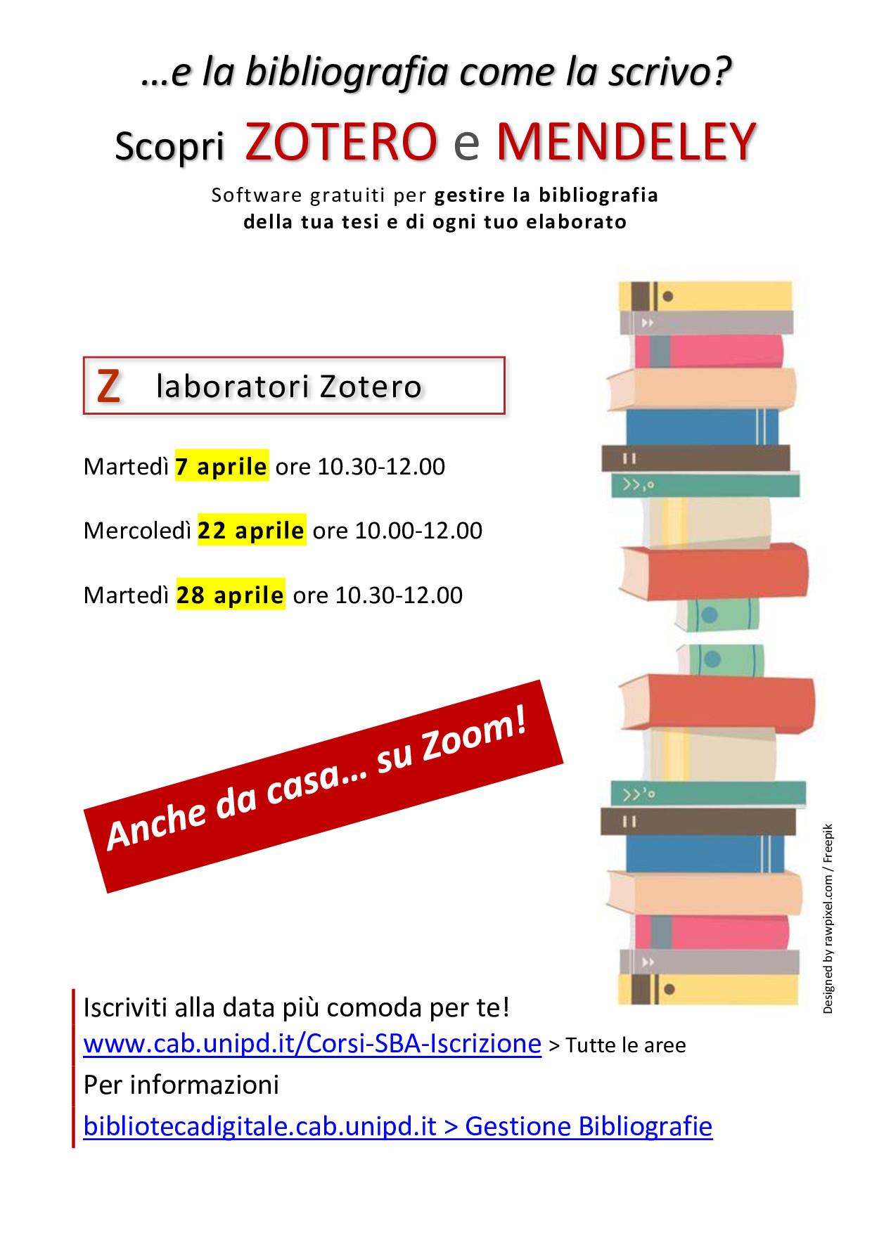 Gestione delle bibliografie: laboratori su Zotero - online su ZOOM