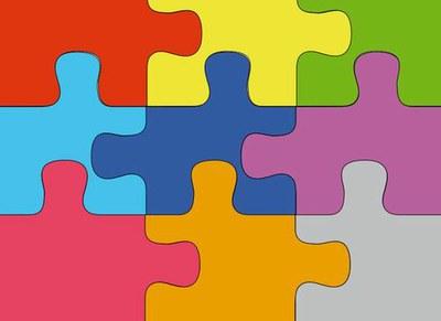 Puzzle col significato di team