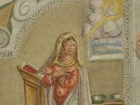 Madonna: particolare del dipinto murale